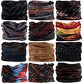 VANCROWN Headwear Head Wrap Sport Headband Sweatband 220 Patterns 12 in 1 Magic Scarf 12PCS & 6PCS 12 in 1 (12PCS.Weave)