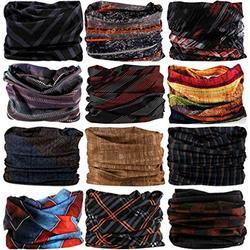 Headwear Head Wrap Sport Headband Sweatband 220 Patterns 12 in 1 Magic Scarf 12PCS & 6PCS 12 in 1 by VANCROWN (12PCS.Weave)