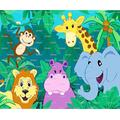 1/2 Sheet - Baby Jungle Animals Birthday - Edible Cake/Cupcake Party Topper!!!