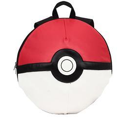 FABNY Pokemon Backpack Pokeball Kids Boys Girls School Travel Bookbag - Red, Black, White 16 Inch