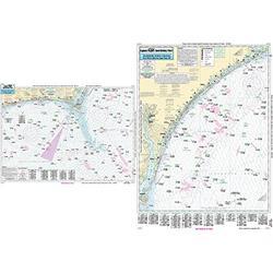 Nearshore Cape Fear, NC - Laminated Nautical Navigation & Fishing Chart by Captain Segull's Nautical Sportfishing Charts   Chart # CFR27