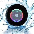 Waterproof Portable Shower Bluetooth 4.0 Speakers Subwoofer by Exkokoro(TM), Colorful LED Effect, Strong Adhesion, Hands-Free Calls for Smartphone All Bluetooth Device(Black)