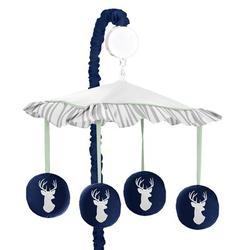 Sweet Jojo Designs Woodsy Musical Mobile in Blue, Size 25.0 H x 19.0 W x 11.0 D in   Wayfair Mobile-Woodsy-NV-MT