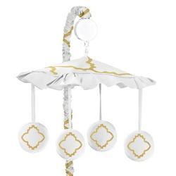 Sweet Jojo Designs Trellis Musical Mobile in White, Size 25.0 H x 19.0 W x 11.0 D in   Wayfair Mobile-Trellis-WH-GD