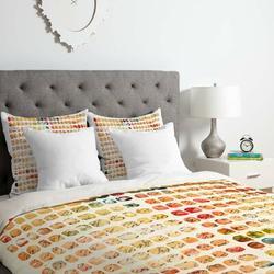 East Urban Home Funny Blocks Duvet Cover Set Microfiber in Orange, Size King   Wayfair ESRB1830 34345605