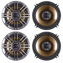 4X Polk Audio DB521 5.25 Inch Coaxial Marine Boat Yacht Boat Car Audio Stereo Speaker (2 Pairs)