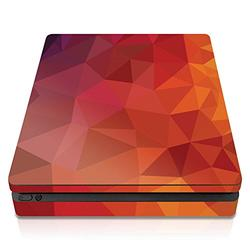 Controller Gear PS4 Slim Console Skin - Blood Orange Poly Horizontal - PlayStation 4