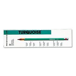 Prismacolor 2269 Turquoise Drawing Pencil, 4H, 1.98 mm, Dozen