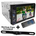 Double-Din Car DVD Receiver with Touchscreen Media Player Receiver System - Work with Bluetooth/USB/SD