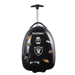Denco NFL Oakland Raiders Kids Lil' Adventurer Luggage Pod, 18-inches, Black