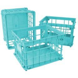 Storex Standard Letter/Legal File Crate Plastic in Green/Blue, Size 11.2 H x 14.25 W x 17.25 D in | Wayfair 61604U03C