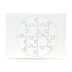 """Hygloss Products, Inc Blank Decorating Kids Art Activity, Use This Jigsaw As Party Favors, DIY Invites and More - White, Sturdy - 6 x 8 Inches, 12 Pieces, 100 Puzzles, 6"""" x 8"""""""