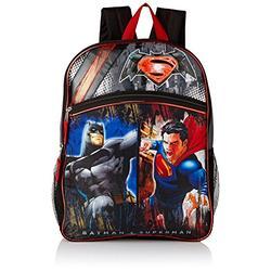 "Warner Brothers Boys' Batman Vs. Superman Backpack, GREY/BLACK, 16"" X 12"" X 5"""