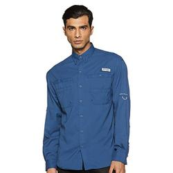 Columbia Men's Plus Tamiami II Long Sleeve Shirt, Dark Mountain - X-Large