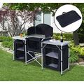 Purplebox Sport Fitting Folding Camping Kitchen Cabinet Picnic Table Cupboard Cooking Storage Travel