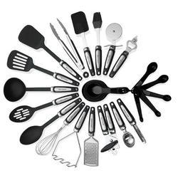 Kitch N' Wares 26 Piece Kitchen Utensil Set Nylon/Stainless Steel in Black/Gray/Green | Wayfair Kw-sml-set