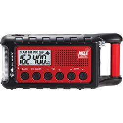 Midland ER310 E+Ready Emergency Crank Radio with NOAA Red