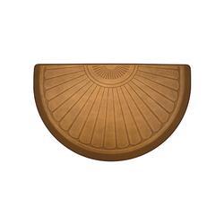 WellnessMats Sunburst Half-Round Comfort Mat - Palm Wood - Frontgate