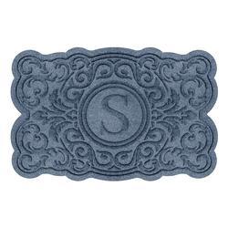 Water & Dirt Shield Harlow Monogrammed Door Mat - Bluestone - Frontgate