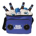 Bud Light Soft Cooler Bluetooth Speaker Portable Travel Cooler with Built in Speakers BudLight Wireless Speaker Cool Ice Pack Cold Beer Stereo for Apple iPhone, Samsung Galaxy