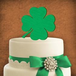 aMonogram Art Unlimited Four Leaf Clover Cake TopperWood in Brown/Green | Wayfair 94348P