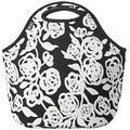 BUILT NY Gourmet To Go Neoprene Lunch Tote, Garden Rose Black & White