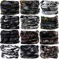 DEMIL 6PCS/8PCS/12PCS Seamless Headband camo Bandanas Headwear for Men&Women Neck warmer Scarf 16-in-1 Multifunctional for Neck Gaiter (12pcs-Style36)