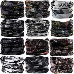 DEMIL 6PCS/8PCS/12PCS Seamless Headband camo Bandanas Headwear for Men&Women Neck warmer Scarf 16-in-1 Multifunctional for Neck Gaiter (12pcs-Style36)