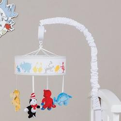 Trend Lab Dr. Seuss Friends Musical MobileFabric in Blue/Red/Yellow, Size 15.0 H x 24.0 W x 10.0 D in   Wayfair 30419