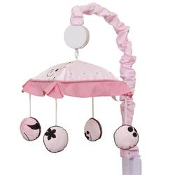 Geenny New Butterfly Baby Nursery Musical MobilePlastic/Fabric in Pink, Size 36.0 H x 4.0 W x 5.0 D in | Wayfair CF-2075-M