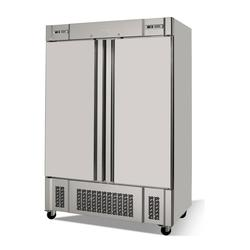 """Infrico IRR-AN49MX 54 1/2"""" Two Section Commercial Refrigerator Freezer - Solid Doors, Bottom Compressor, 115v"""