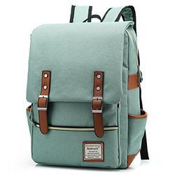 UGRACE Slim Business Laptop Backpack Elegant Casual Daypacks Outdoor Sports Rucksack School Shoulder Bag for Men Women, Tear Resistant Unique Travelling Backpack Fits up to 15.6Inch Laptop in Green