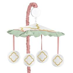 Sweet Jojo Designs Ava Musical MobileFabric in Pink/White, Size 25.0 H x 19.0 W x 11.0 D in   Wayfair Mobile-Ava