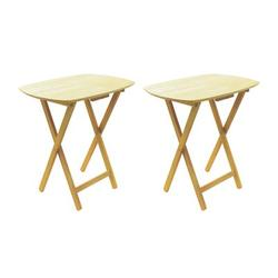 Red Barrel Studio® Milton 2 Piece Folding TV Tray Table Set Wood/Solid Wood in Brown, Size 26.0 H x 24.0 W x 18.0 D in   Wayfair RDBL6408 38684584