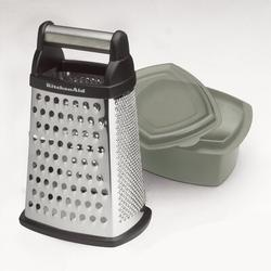 KitchenAid Box Grater w/ ContainerPlastic in Red, Size 10.3 H x 6.5 W x 5.25 D in | Wayfair KN300OSERA