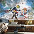 RoomMates JL1387M Captain Jake and The Never Land Pirates Water Activated Removable Wallpaper Mural - 10.5 ft. x 6 ft.