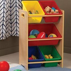 KidKraft Storage Toy Organizer w/ BinsWood/MDF in Brown, Size 28.43 H x 16.93 W x 11.81 D in   Wayfair 15472