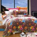 North Home Blossom 4 Piece Duvet Cover SetCotton/100% Cotton in Blue/Brown/Pink, Size Queen | Wayfair Blossom DC QN