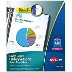 """Avery Diamond Clear Heavyweight Sheet Protectors, 8.5"""" x 11"""", Easy Load, 1000 Total Page Protectors (74400)"""