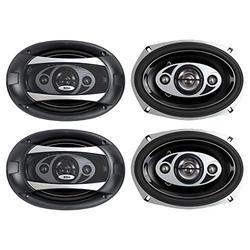 """BOSS AUDIO P694C 6x9"""" 4-Way 800W Car Coaxial Stereo Speakers P69.4C 4 Ohm"""