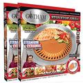 Gotham Steel Indoor, Nonstick Ceramic Smokeless, Healthy Korean BBQ Grill for Gas, Glass & Electric Stovetops, Dishwasher Safe, 2 Pack, Brown