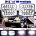 """7x6 5x7"""" Inch Led Headlights for International Harvester 5900i 7300 7400 9200 9400 9900 High Low Sealed Beam Rectangular Lights Bulb Replace for H6014, H6052, H6054, 6054, H6053, H5054 Package 1 Pair"""