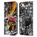 Head Case Designs Officially Licensed AC/DC ACDC Icons Collage Leather Book Wallet Case Cover Compatible with Apple iPhone 7 / iPhone 8 / iPhone SE 2020