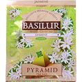 Basilur Pack of 50, Jasmine Green Tea, 100% Ceylon, PyRamid Tea Bags, Biodegradable Luxury Tea Bags for Hotels, Restaurants, Cafes and Tea Lovers, Ultra-Premium Tea Sachets in Box