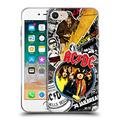 Head Case Designs Officially Licensed AC/DC ACDC Icons Collage Soft Gel Case Compatible with Apple iPhone 7 / iPhone 8 / iPhone SE 2020