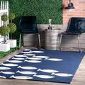 nuLOOM Vivienne Hand Hooked Indoor/Outdoor Rug, 5' x 8', Navy