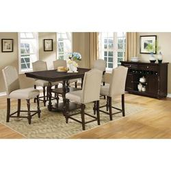 7-Piece Dining Set - Darby Home Co Jennings Stewart 7 Piece Dining Set, Wood/Upholstered Chairs/Solid Wood, Size Medium (Seats 5 to 7)