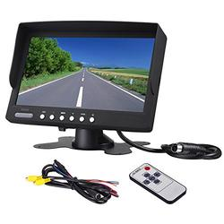 """Bus Truck Rearview Camera LCD Monitor Heavy Duty Vehicle Rearview Screen LED Backlight High Resolution Backup Camera Display 2 Video Input Car Rearview Cameras Car DVD Stand 7"""" inch Monitor"""
