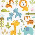 Creative Converting 192 Count Lunch Paper Napkins, Happi Jungle