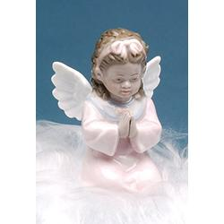 """Cosmos Gifts 1283 Fine Porcelain Inspirational African American Angel Girl Praying Mini Figurine, 3-1/2"""" H"""